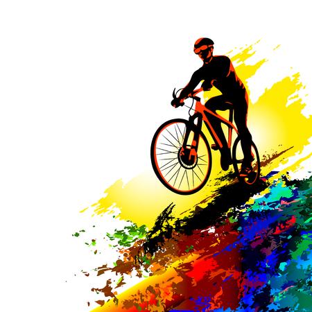 Bicycle race background. Sports illustration