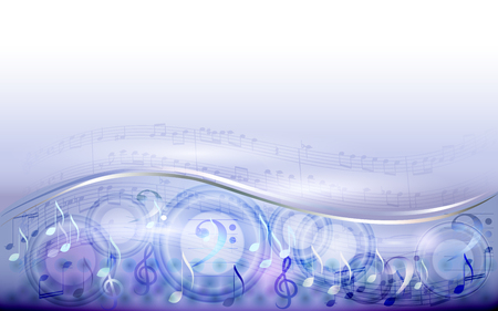 Abstract light silver sheet music background, wallpaper