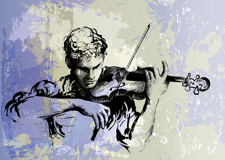 Violinist playing classical violin Stok Fotoğraf