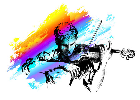 Violinist playing classical violin.