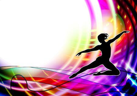 Ballet dancer, classical dance, aerobic, acrobatic
