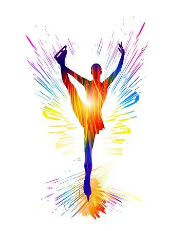 Figure skating. Classical ballet dancer