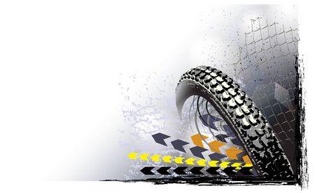 Motorsport wheel background