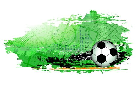 Abstract sports background with soccer ball