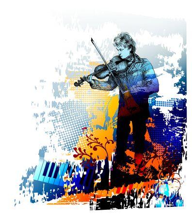 Violinist, classical music concert Banque d'images