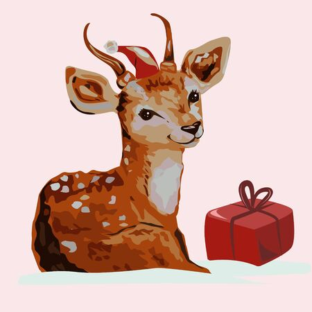 A fawn and a Christmas present