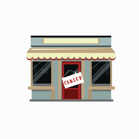 The store is closed for various reasons Illustration