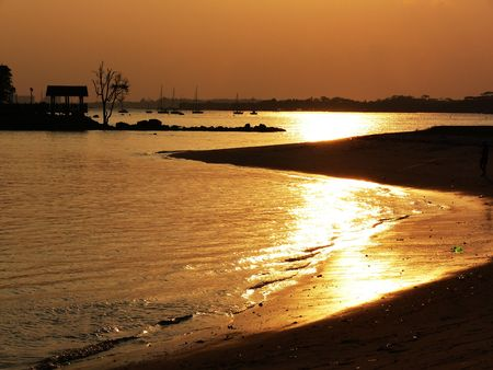 beachcomb: Taken at Changi Beach in Singapore during sunset