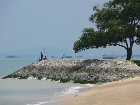 Beach at Est Coast Park, Singapore