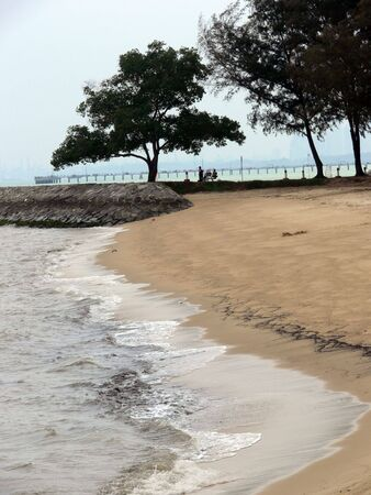 Beach at East Coast Park, Singapore Archivio Fotografico