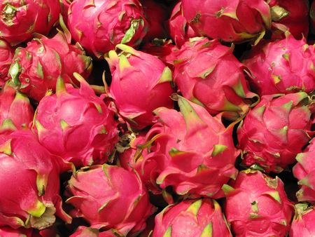 Dragon fruits which is suppose to reduce hypertension Stock Photo