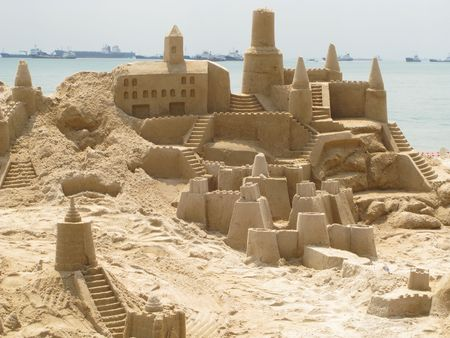 Building sand castles is fun Archivio Fotografico