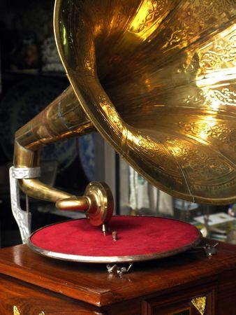 antique phonograph: Antique gramophone is a unique piece for collectors