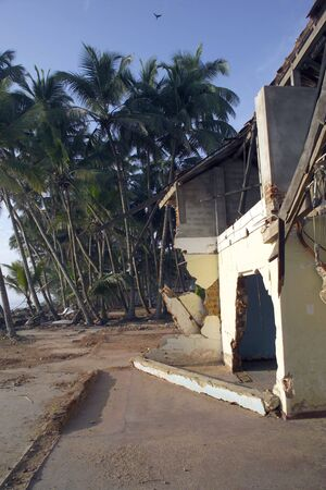 Tsunami damages in Sri Lanka in 2004