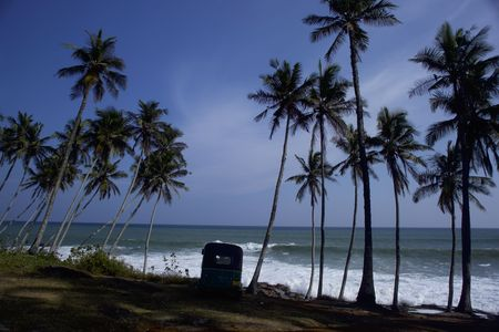 Beach in Tangalle, Sri Lanka after tsunami 2004