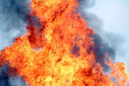Fire used by civil defence officers in training