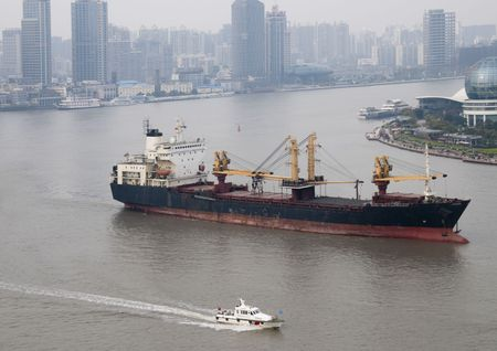 Shanghai is booming is one of the worlds largest cargo port