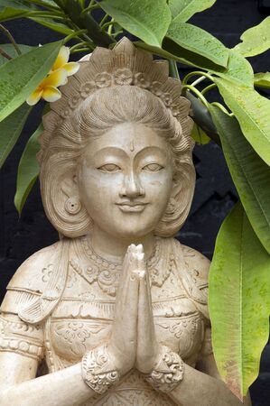 Statue welcoming visitors in Bali Stock Photo