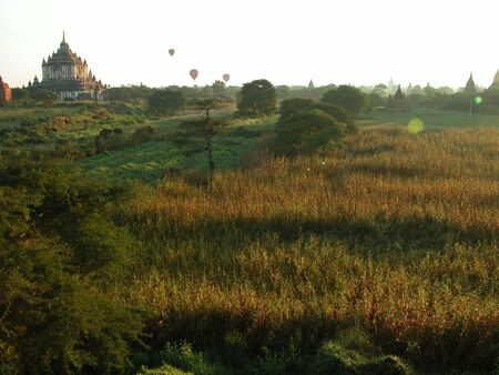 Bagan is know as Land of Pagodas.  You can literally see pagodas for miles and miles around you. Stock Photo - 6033925
