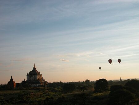 Bagan is know as Land of Pagodas.  You can literally see pagodas for miles and miles around you. Stock Photo - 6033910