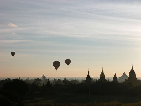 Bagan is know as Land of Pagodas.  You can literally see pagodas for miles and miles around you.
