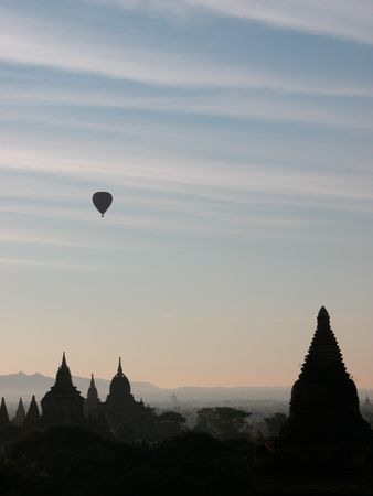 Bagan is know as Land of Pagodas.  You can literally see pagodas for miles and miles around you. photo