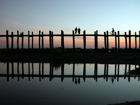 Myanmar: Paysages du pont de Ubein au Myanmar de Mandalay.  Les sc�nes sont absolument fabuleuses !