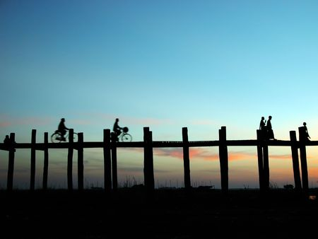 Scenery of Ubein Bridge in Mandalay Myanmar.  The scenes are absolutely fabulous!