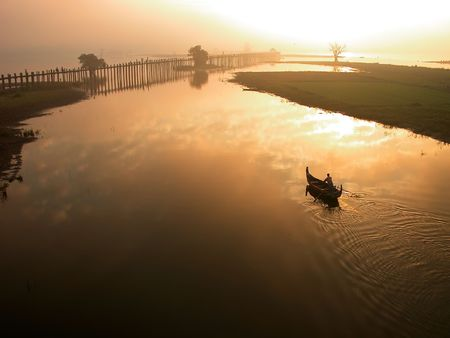 absolutely: Scenery of Ubein Bridge in Mandalay Myanmar.  The scenes are absolutely fabulous!