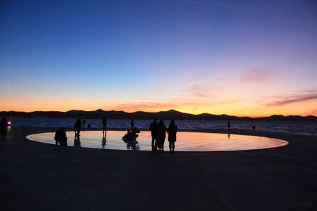 Adriatic sunset on the seacoast Stock Photo