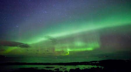Northern light at the coast of Norway 免版税图像