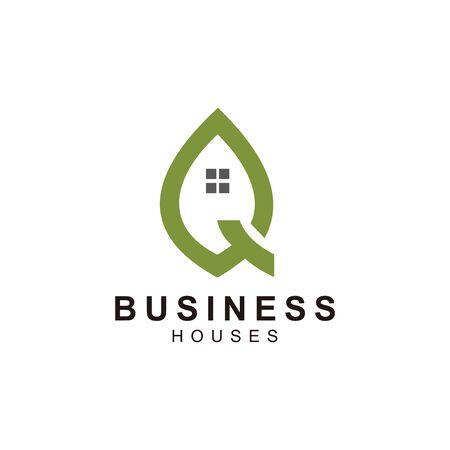 home logo design, the letter