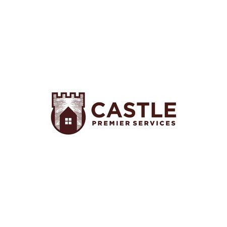 The main castle logo service Ilustração