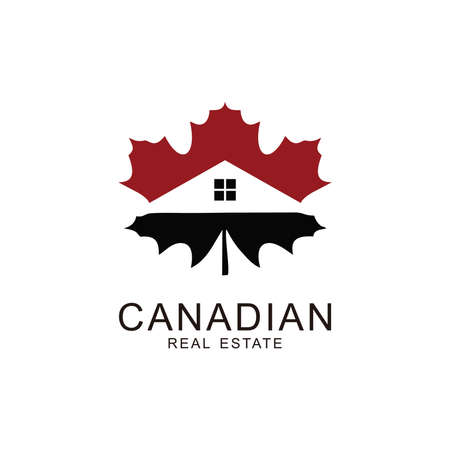 illustration home of Canadian maple leaf symbol Ilustrace