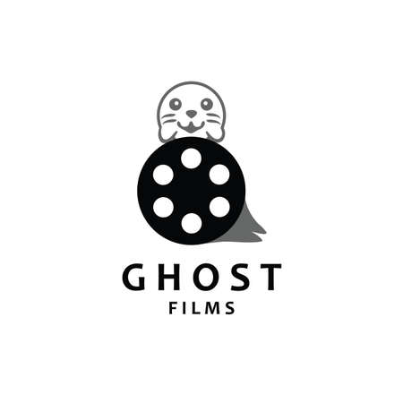 Ghost Film Logo Design Template. Creative logo design for movie and television industry