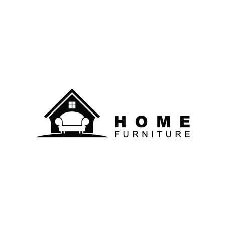 Home Furniture Logo design inspiration Vettoriali