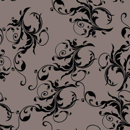 sketch pattern: ilustraci�n vectorial de patr�n floral - doodle Vectores