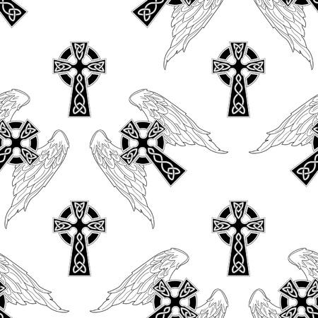 abstract cross: Astratto croce senza soluzione di continuit�