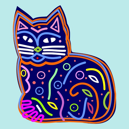 Decorative beautiful cat Stock Vector - 9184979