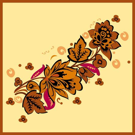 Floral element of ornament Vector