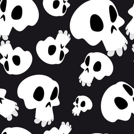 White skulls seamless Vector