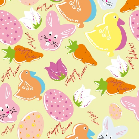Colorful easter seamless pattern background Vector
