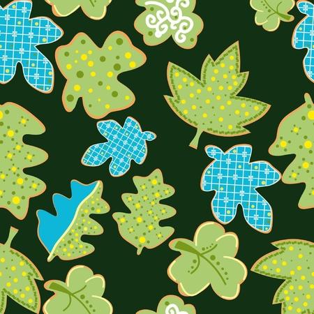 Decorative colorful leafs