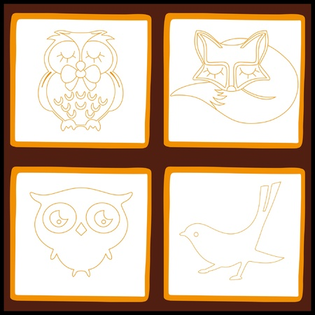 Domestic animals set, vector illustration Stock Vector - 9649846