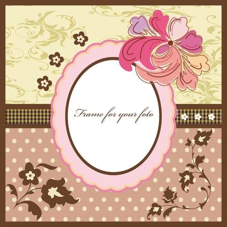 Floral vintage frame  Stock Vector - 9649884