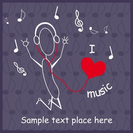 Music theme  Stock Vector - 9649858