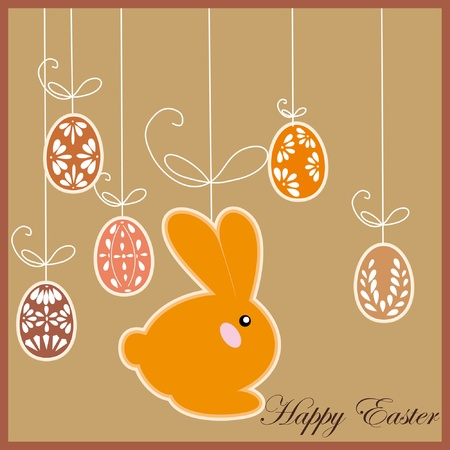antique postcard with Easter rabbit Stock Vector - 9649843