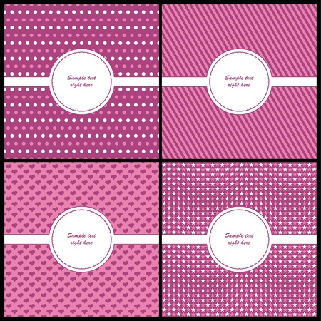 Pink and beige card template  Stock Vector - 9649861