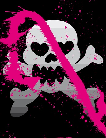 Vector skull on a grunge background Vector