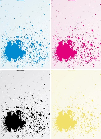 blots: Abstract grunge background set for design use
